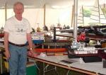 John Fryant with his model tugs. Pat Matthews
